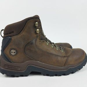 Timberland Mens Size 7M Brown Leather hike boots